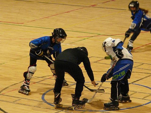 Inline hockey players